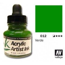 Tinta acrílica Acrylic Artist Ink 012 Verde