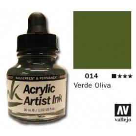 Tinta acrílica Acrylic Artist Ink 014 Verde Oliva