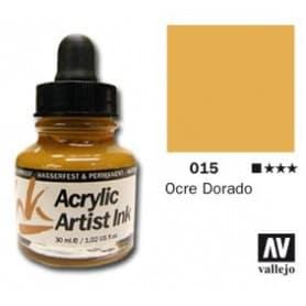 Tinta acrílica Acrylic Artist Ink 015 Ocre Dorado