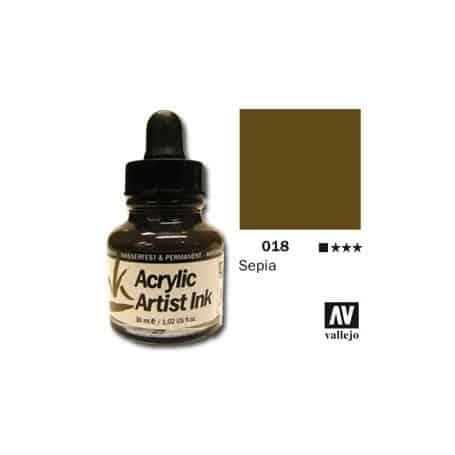 Tinta acrílica Acrylic Artist Ink 018 Sepia