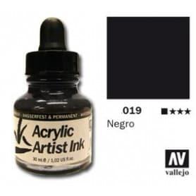 Tinta acrílica Acrylic Artist Ink 019 Negro