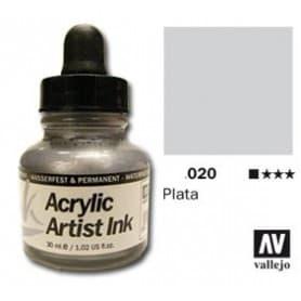Tinta acrílica Acrylic Artist Ink 020 Plata