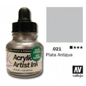 Tinta acrílica Acrylic Artist Ink 021 Plata Vieja