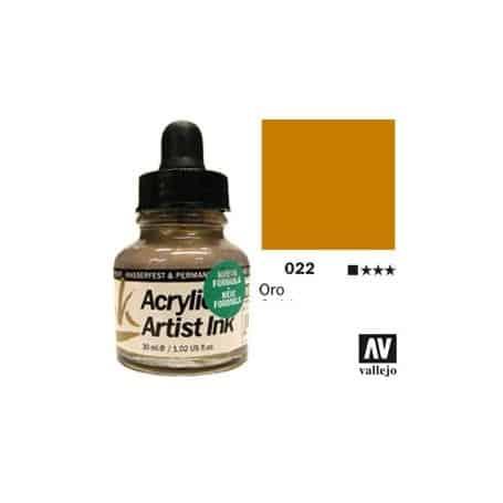 Tinta acrílica Acrylic Artist Ink 022 Oro