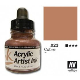 Tinta acrílica Acrylic Artist Ink 023 Cobre