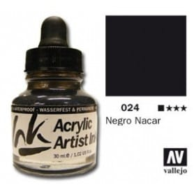Tinta acrílica Acrylic Artist Ink 024 Negro Nácar