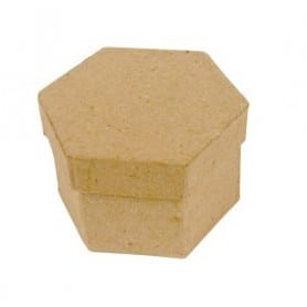 Mini Caja hexagonal Décopatch