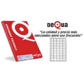 1400 etiquetas cantos rectos Dequa 105 x 40 mm