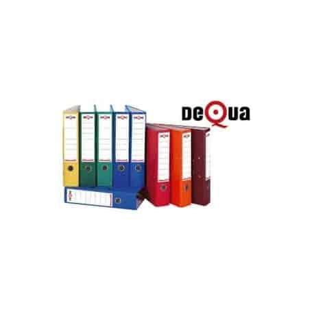 Archivador con rado cartón Dequa A4 70 mm Rojo