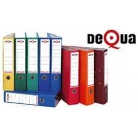 Archivador con rado cartón Dequa folio 70 mm Rojo