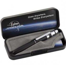 Bolígrafo Fisher Bull Grip con Stylus y clip Negro