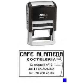 Sello automático Colop Printer 35 Tinta Azul