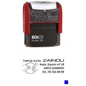 Sello automático Colop Printer 30 Tinta Azul