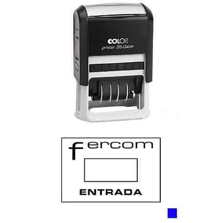 Sello automático Colop Printer 35 Dater Tinta Azul