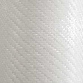 Vinilo fibra de carbono fundición blanco corte 50 x 152 cm
