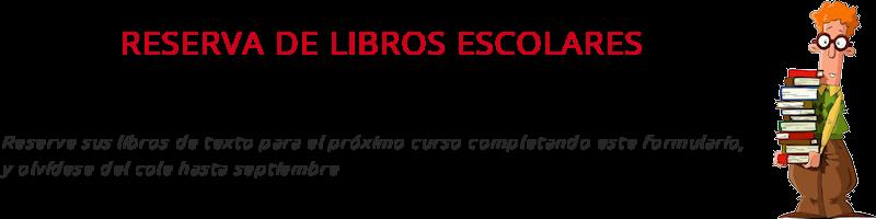 Reserva de libros escolares, curso 2019 / 2020