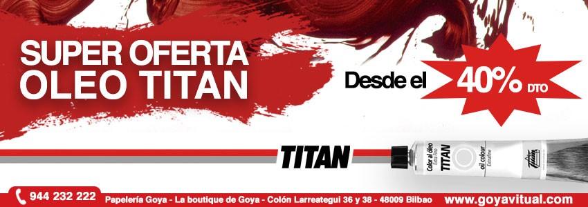 40% de descuento en Oleo Titan